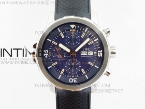 Aquatimer Chrono IW376803 V6F 1:1 Best Edition Blue Dial on Ruber Strap A7750