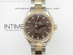 AQUA TERRA 150M SS/RG Brown textured dial Ladies 1:1 Miyota 8520