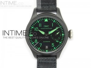 Big Pilot 5019 Miramar Ceramic Case Black Dial Green Marker Asian 23J