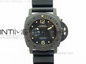 PAM 616 Carbotech V2 VSF Best Edition on Blue Logo Black Rubber Strap P9000