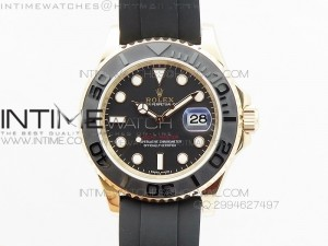 Yacht-Master 2015 116655 RG JF 1:1 Best Edition Ceramic Bezel on Rubber Strap SH3135