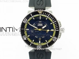 Great Barrier Reef Limited Edition II SS Blue Dial on Black Rubber Strap A2836(Free Yellow Rubber strap)