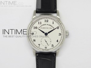 Classic Regulator SS White Dial Number Markers on Leather Strap A17J