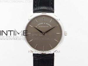 Saxonia Thin 211.026 SS Gray dial on Black Leather Strap MIYOTA 9015