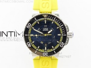 Great Barrier Reef Limited Edition II SS Black Dial on Yellow Rubber Strap A2836(Free Black Rubber strap)