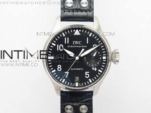 Big Pilot IW500901 ZF 1:1 Best Edition Black Dial on Black Leather Strap A521111