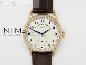 Classic Regulator RG White Dial Number Markers on Leather Strap A17J