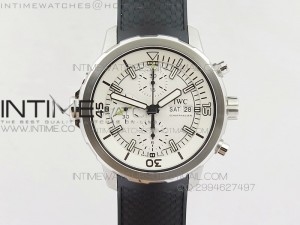 Aquatimer Chrono IW376803 V6F 1:1 Best Edition White Dial on Ruber Strap A7750