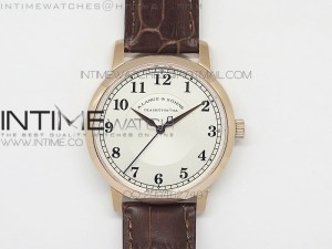 Classic Regulator MK Best Edition RG  White Dial Number Markers Sec@6 on Brown Leather Strap A88275