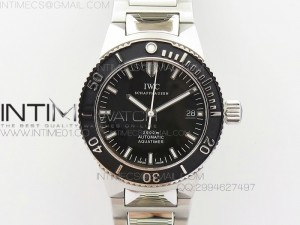 Aquatimer Automatic SS Noob Best Edition Black Dial on SS Bracelet A2824