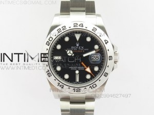 Explorer II 42mm 216570 1:1 Noob Best Edition Black Dial A3187 (Correct Hand Stack)