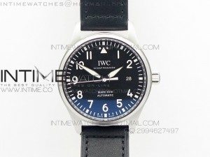MARK XVIII IW327001 SS MK Black DIAL ON BLACK LEATHER STRAP A2892