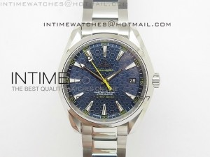 Aqua Terra 150M SS V6F 1:1 Best Edition Blue Textured Dial on SS Bracelet A8507