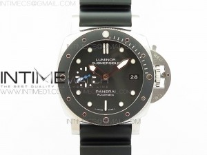 PAM684 SS Luminor Submersible SS XF 1:1 Best Edition on Black Rubber Strap On 23J to P.9010