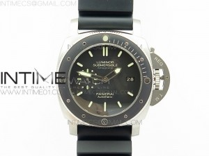 PAM389 O Titanium VSF 1:1 Best Edition Black Dial on Black Rubber Strap P9000