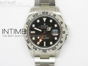 Explorer II 42mm 216570 1:1 Noob Best Edition Black Dial A3187