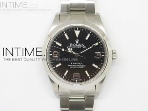 EXPLORER I 214270 39mm SS Black Dial on SS  Bracelet SA3132