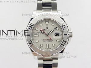 Yacht-Master 116622 1:1 Noob Best Edition Gray Dial on SS Bracelet A2824