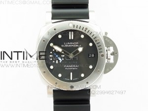PAM682 Luminor Submersible XF 1:1 Best Edition on Black Rubber Strap P.9010 V2