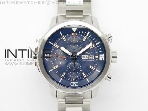Aquatimer Chrono IW376803 V6F 1:1 Best Edition Blue Dial on SS Bracelet A7750