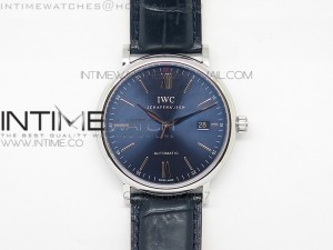 Portofino Boutique Edition MK 1:1 Best Edition V2 Blue Dial SS A2892 On Blue Leather