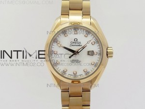 AQUA TERRA 150M RG V6F Best Edition White MOP dial Ladies 1:1 Miyota 8520