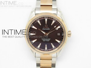 Aqua Terra 150M SS/RG 1:1 Best Edition Brown Dial on SS/RG Bracelet A8500