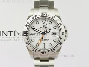 Explorer II 42mm 216570 1:1 Noob Best Edition White Dial A3187 (Correct Hand Stack)