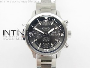 Aquatimer Chrono IW376803 V6F 1:1 Best Edition Black Dial on SS Bracelet A7750