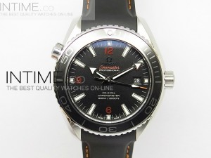 Planet Ocean Professional Ceramic/Orange 45mm 1:1 Best Edition on Rubber Strap   A8500