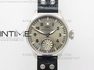 "Big Pilot ""Markus Buhler"" IW5003 Turbine Movement V6F Best Edition Gray dial on Leather Strap A6498"