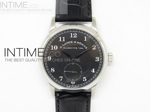 Classic Regulator SS Black Dial Number Markers on Leather Strap A17J