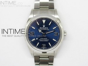 EXPLORER I 214270 39mm 1:1 Best Edition on SS Bracelet Blue Dial SA3132 V2