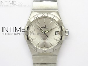 Constellation 38mm V6F SS Silver Dial on SS Bracelet A8500