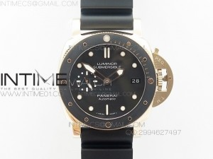 PAM684 Luminor Submersible RG XF 1:1 Best Edition on Black Rubber Strap P.9010