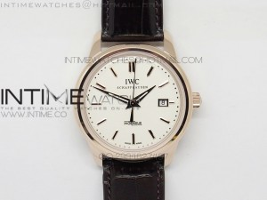 Ingeniuer St.Laurens RG White Dial MK 1:1 V2 Best Edition A80111 on Brown Leather Strap